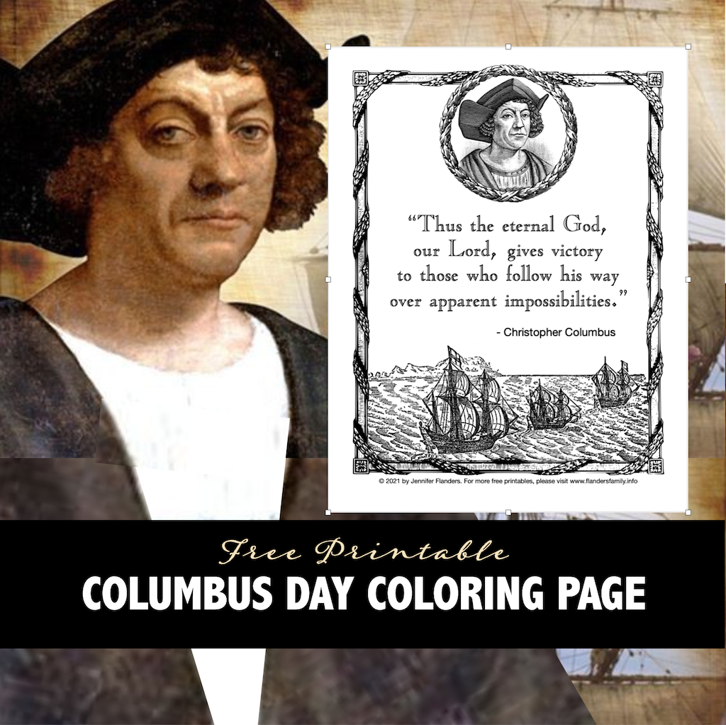 Columbus Quote Coloring Page
