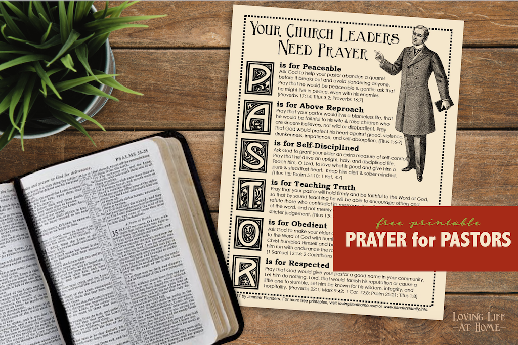 Praying for Your Pastor