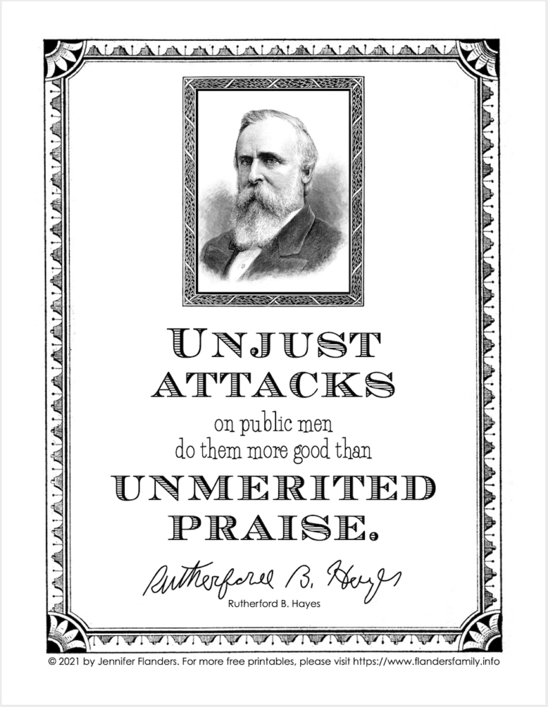 Rutherford B. Hayes Quote Printable